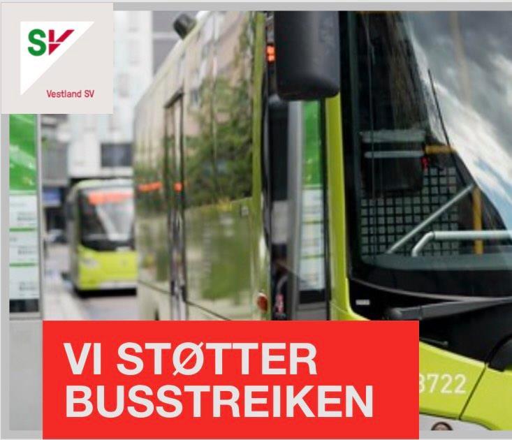 Full støtte til de streikende bussjåførene!